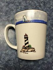Today's Home Coastal Lighthouse 4 Coffee Mugs, Unused!!!  NEW in inner box!!!