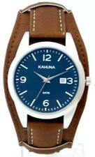 KAHUNA MEN'S BLUE DIAL BROWN CUFF STRAP WATCH - KUC0061G - RRP:£50