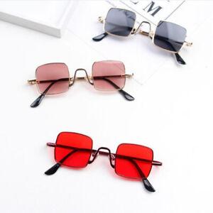 Anti-UV 400 Cool Toddler Goggles Metal Rack Eyeglass Square Style Sunglasses