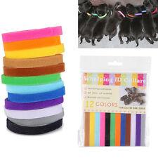 12 Farbe Welpen ID Klettband Halsband Welpenhalsband halsbänder Katzen Hunde