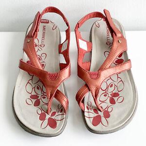 Merrell red ochre sandal-worn once indoors SZ: 7