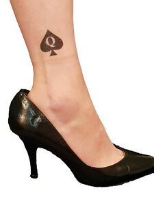 5 Temporary Tattoo Queen Of Spades Hotwife Cuckold