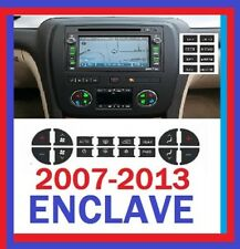 2007-2013 BUICK ENCLAVE AC AND RADIO NAVIGATION SET OF DECALS