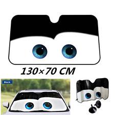 Cartoon Front Car SUV Windshield Sun Shade Big Eyes Sun Visor Window Cover Black