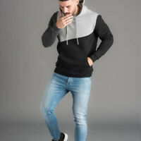 Men's Fashion Pull Over Hoodie Hooded with Drawstring Kangaroo Pocket Sweatshirt