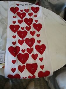 Pottery Barn Kids Valentines day Countdown  Advent Calendar I love you Because