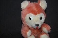 "Brown Teddy Bear White Face Ears Paws Vintage 1975 Dakin Plush 6"" Toy Lovey"