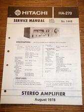 Manual de servicio para Hitachi HA-270 ,ORIGINAL