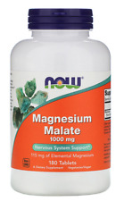 Now Foods Magnesium Malate 1,000 mg 180 Tablets Nervous System Support