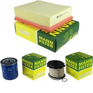 Mann-filter Set Peugeot 206 Van Hatchback 2A/C 1.9 D 9731669