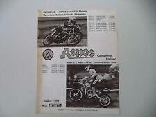 advertising Pubblicità 1976 MOTO ASPES JUMA 125/CRS 125 CROSS e CORRADO MADDII