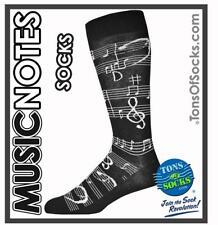 Men's Music Notes Socks (Black)