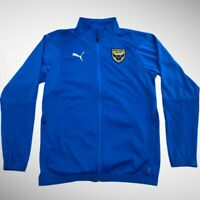 Oxford United Men's Football Puma Tracksuit Track Top Full Zip Training Jacket S