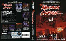 Maximum Carnage Sega Mega Drive PAL Replacement Box Art Case Insert Cover