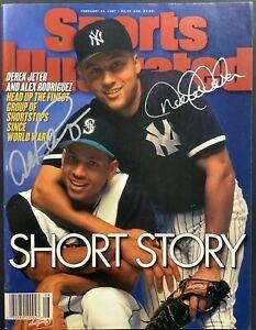 Derek Jeter Signed Sports Illustrated Mag 2/24/97 No Label Arod Autograph JSA