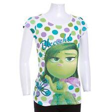 Disney Pixar Inside Out Girl Disgust Green Glitter Short Sleeve T-Shirt Top 5 6