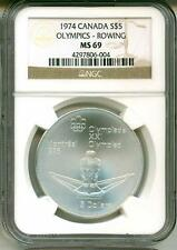 1974 S$5 Canada Montreal Olympics Rowing NGC MS69