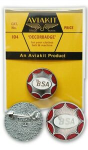 BSA Star Round Badge by Aviakit Lewis Leathers