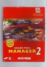 GRAND PRIX MANAGER 2 - 1996 F1 RACING PC GAME - ORIGINAL RARE BIG BOX - VGC