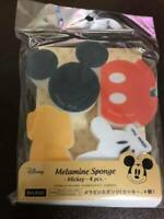Disney Mickey Mouse Melamine Sponge 4Pcs Kitchen item New Japan