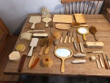 Lot of 40 Vintage Art Deco Bakelite Hand Mirrors Combs Brushes Nail Files More