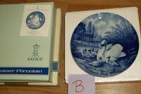"""B)KAISER W. GERMANY """"MOTHER'S DAY 1976"""" PORCELAIN PLATE IN BOX! 7 5/8""""DIAM"""
