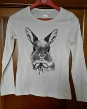 T-SHIRT MANCHES LONGUES LA REDOUTE LAPIN  - TAILLE 12 ANS