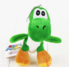 "Super Mario Bros Green Yoshi 4.5"" Charm Soft Plush Toy Doll Keychain Keyring"