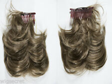 8in Layered 3 Fox Tails on Bendable Wires Attached To a Single Comb Wavy