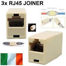 3x RJ45 Ethernet Network LAN Cat5e Cat6 Cable Joiner Adapter Coupler Extender