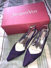 """Zapatos señoras de Jacques Vert Nuevo Y En Caja Talla 4 Reino Unido boda fiesta formal de tacón púrpura 3"""""""