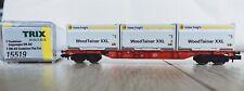 """Trix/Minitrix 15519 Containerwagen DB """"INNO fright WoodTainer XXL"""" spur N(1:160)"""