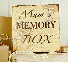 Mum's Memory Box -Vintage Wooden Keepsake Box - Gifts For Mum