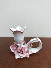 Vintage Hand Crafted Ceramic Flower Candle Holder