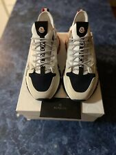 Moncler Trevor Mix Media Leather Chunky Sneakers Red/White/Blue EU 43/US 10