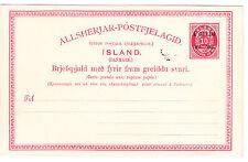 "Iceland/Island-Postal Stationery: 1902-03, 10 aur overprinted ""1-Gildi/'O2-&# 039;03."""