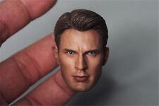 1/6 Chris Evan Captain America Head Sculpt 5.0 For Hot Toys Body in stock