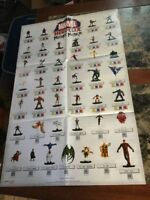 "Store Display Fold Out Poster Marvel Heroclix Mutant Mayhem 19"" X 30"""