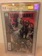 AUTOGRAPHED CGC 9.8 Signature Series Comic TAYLOR KITSCH Gambit WHITE PAGES