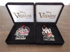 Disney Villains Pin Set Bad Boys & Girls Cruella Queen Hades Ursula Maleficent +