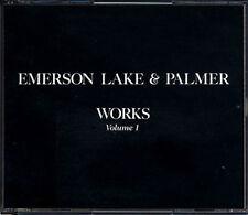 EMERSON LAKE AND PALMER Works JAPAN 1st Press 2 CD 55XD-668/9 5500yen RARE