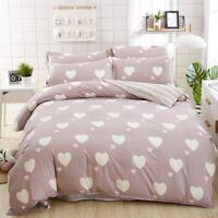 Duvet Cover Set Flat Sheet Linen Pillowcase Bedding Sets Full King Queen Size