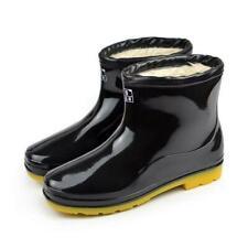 Men's winter Warm Fur Lined RainBoots Rubber Waterproof Outdoor No-slip Shoes