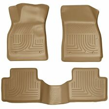 Husky Liners WeatherBeater Floor Mats - 3pc - 98193 - Chevy Malibu 13-15 - Tan