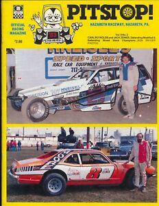 Nazareth Raceway Auto Race Program 6/26/1983-Carl Reynolds #2-FN