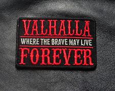 MAD MAX VALHALLA BRAVE LIVE FOREVER HOOK LOOP VIKING ODIN PATCH