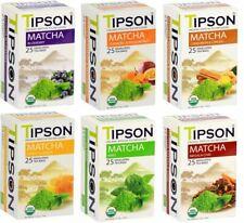 Tipson Organic Matcha Thé infusions 25 feuille Enveloppé Sachets de Thé