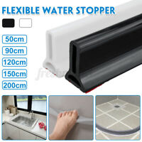 50/200CM Shower Silicone Water Stop Strip Dry Wet Separation Stopper Bathroom