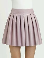Alice + Olivia Box Pleat Leather Skirt Light Purple Size 6