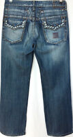 MARITHE FRANCOIS GIRBAUD IT Men Distressed Stonewash Jeans Blue Straight W32 L31